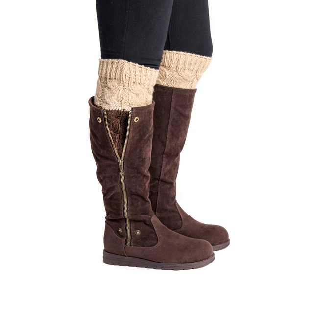 MUK LUKS  Women's 2 Pair Reversible Boot Toppers