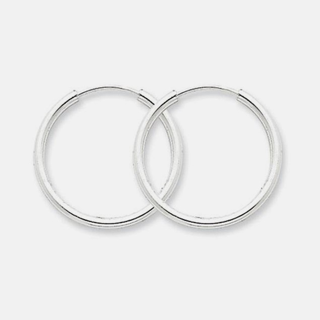 Italian-Made 20mm Sterling Silver Hoop Earrings