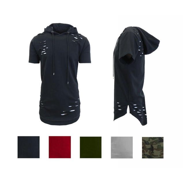 Men's Hooded Thrasher Scallop Bottom Pullover