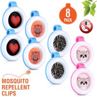 8 Pack-Clip On Mosquito, Bug & Insect Repellent