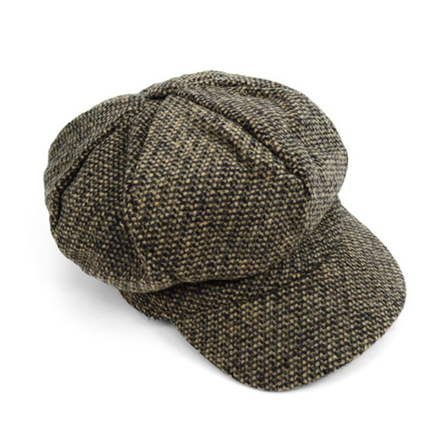 Fall/Winter Unisex British Newsboy Barleycorn Beret Style Cap