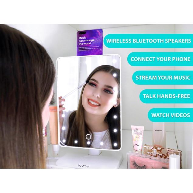 Vivitar Mirror 10x Magnification w/ Bluetooth Speakers & Wireless Charging