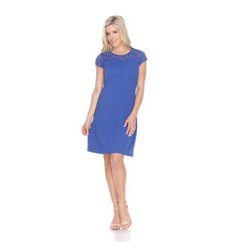 White Mark Pelagia Dress - 6 Colors - Extended Sizes