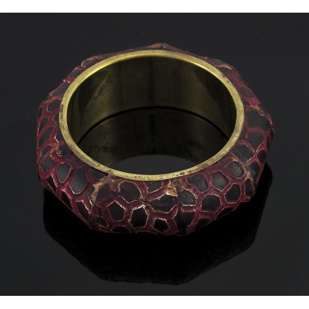 Burgundy / Black Giraffe Print Bangle Bracelet Womens Bangle Bracelets