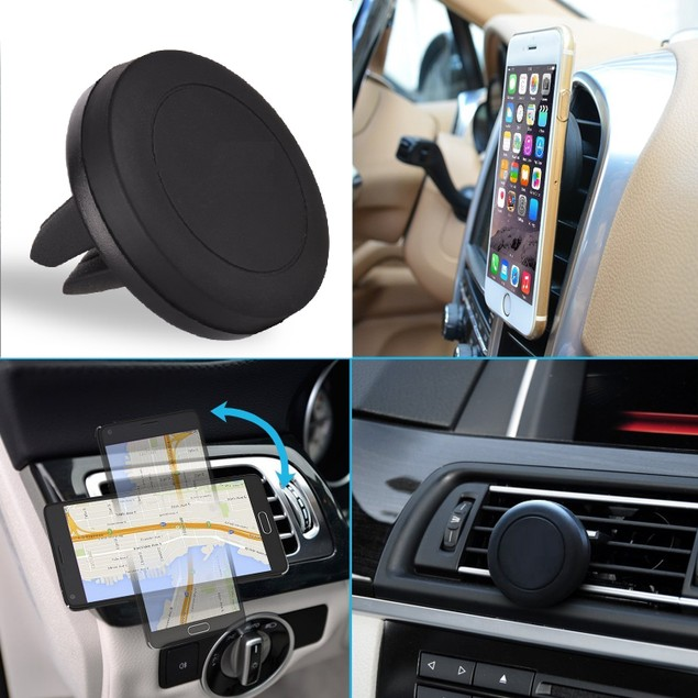2-Pack Universal Magnetic Car Vent Mount for Smartphones & GPS Devices