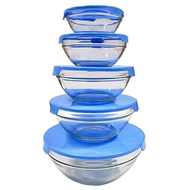 Milex 10-piece Glass Bowl Storage Set