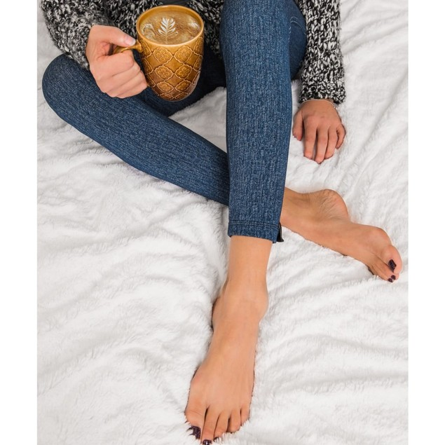 MUK LUKS ® Women's Fleece-Lined Faux Denim Legging $11.99