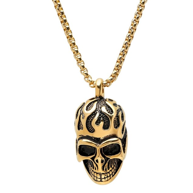 Fire Skull Pendant/Necklace