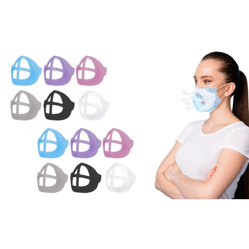 12-Pack: Colorful 3D Support Face Mask Bracket For Comfortable Breathing