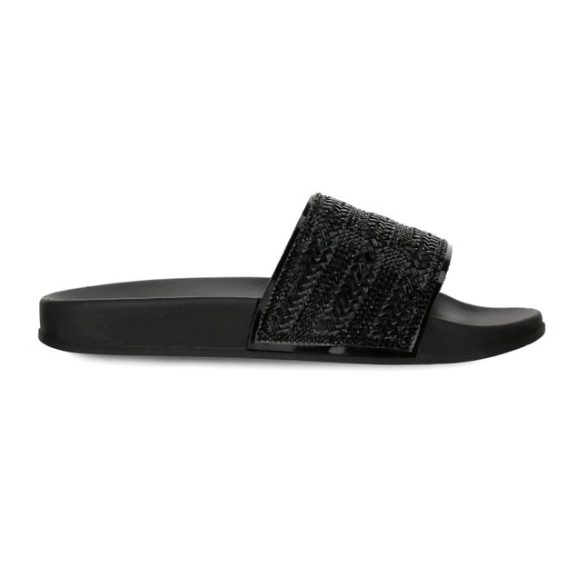 Olivia Miller 'Cove' Multi Studded Pool Slide Sandals