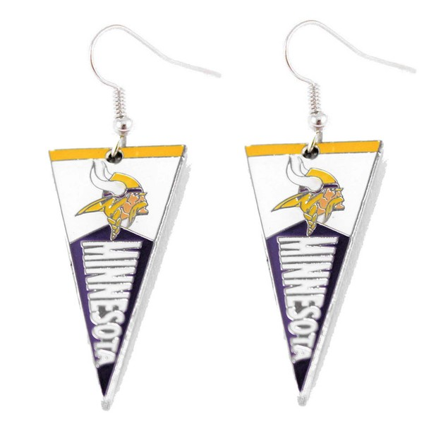 LA Los Angeles Chargers Sports Team Logo NFL Pennant Dangle Earring