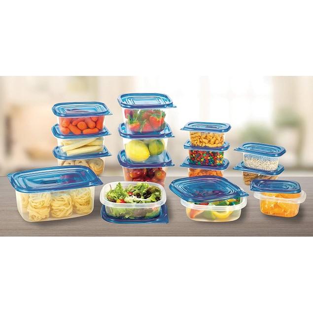 30 Piece Food Storage Set W/ Blue Lids