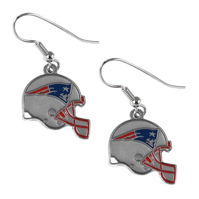 NFL Helmet Shaped J-Hook Silver Tone Earring Set Charm Gift