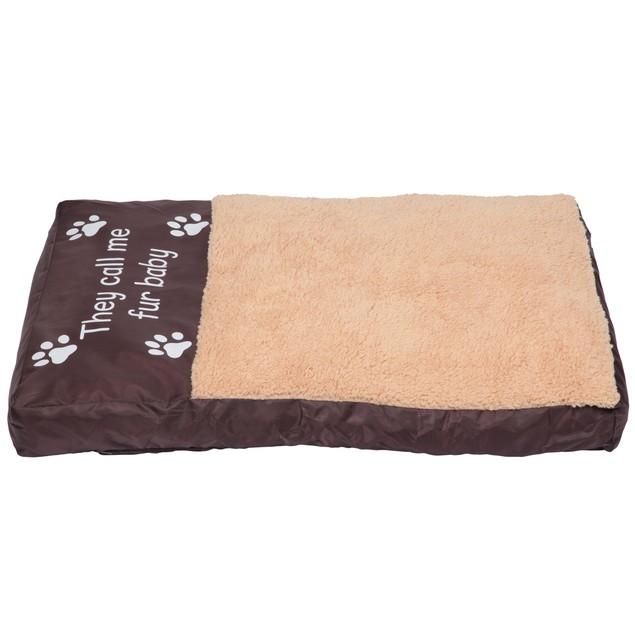 Faux Sheepskin Memory Foam Pet Bed - They Call Me Fur Baby
