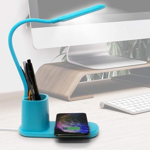 Aduro U-Light 3-in-1 Desk Organizer (Wireless Qi Charger, LED Lamp, Pen Holder)