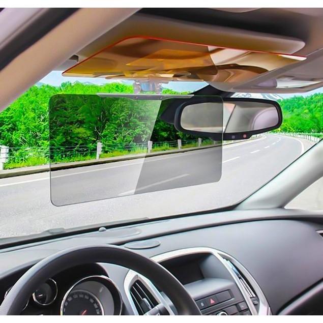 Zone Tech 2x Car Day and Night Anti Glare Tinted HD Sun Headlight Visor