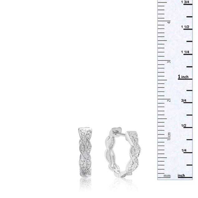 Diamond Swirl Hoop Earrings