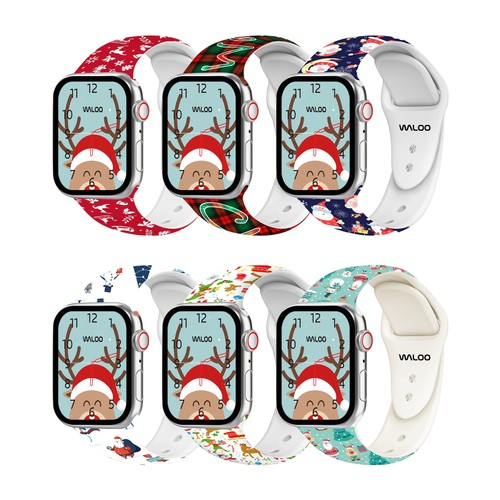 Christmas/Holiday Fun Themed Apple Watch Bands(Fits: Series 1, 2, 3, 4, 5, 6 and 7)