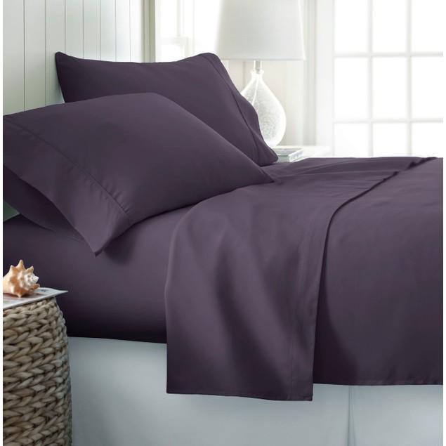 Home Collection Deep Pocket 100% Soft Brushed Microfiber Bedsheet 4 Pc Set