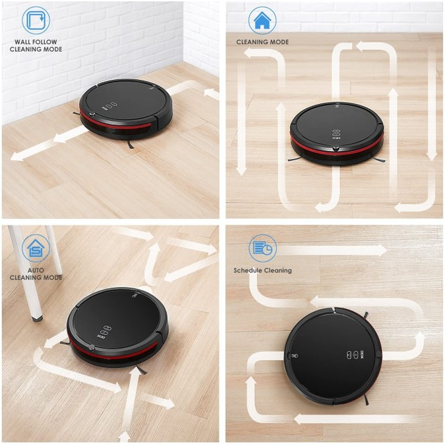 Robot Vacuum, Robotic Vacuum Cleaner with 360° Smart Sensor Protection