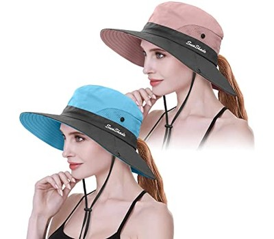 Women's Ponytail Cotton Sun Protection Hat Was: $34.99 Now: $11.49.