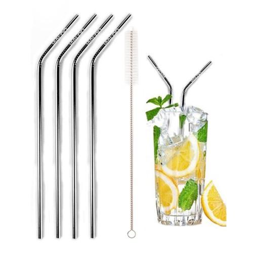 5-Piece Stainless Steel Drinking Straw Set