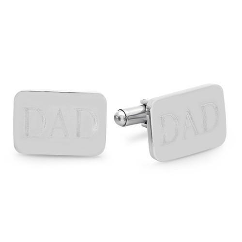 Stainless Steel DAD Engraved Cufflinks