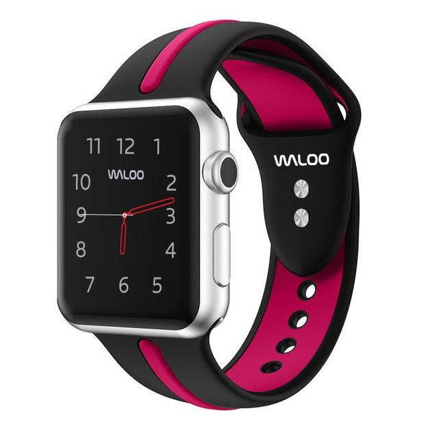 Waloo Two Toned Silicone Apple Watch Replacement Band