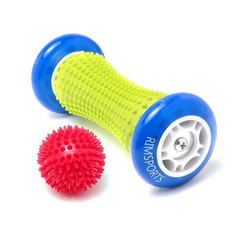 RIM Sports Acupressure Foot Massage Roller + Ball