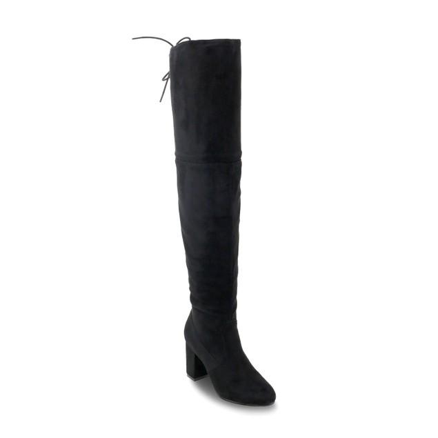 Olivia Miller 'Holtsville' Back Lace Up Heel Over the Knee Boots
