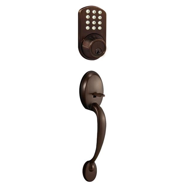 MiLocks Keyless Entry Keypad Deadbolt and Handleset Combo Door Lock