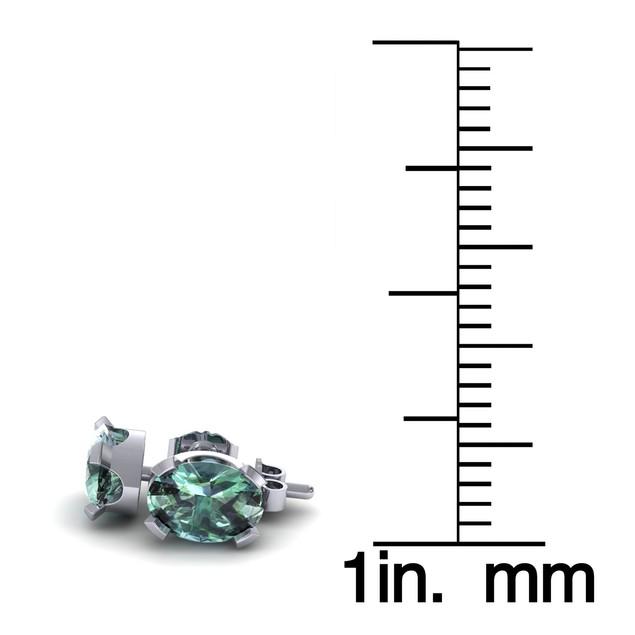 1.29cttw Oval-Cut Green Amethyst Necklace & Earring Set In Sterling Silver
