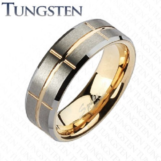 Stunning Tungsten Spiked Men Ring