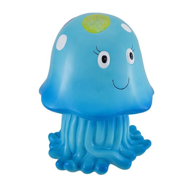 Joyful Blue Jellyfish Whimsical Childrens Coin Toy Banks