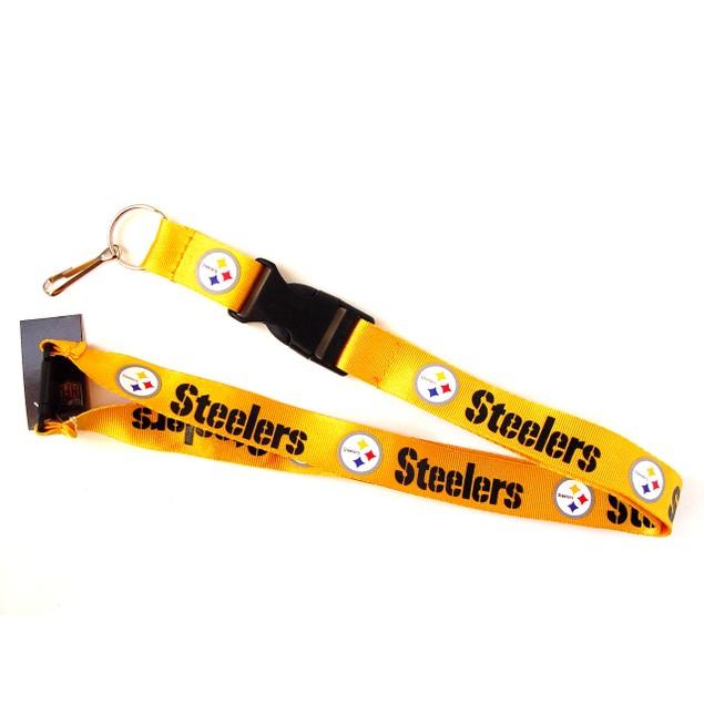 Sports Team Logo Steelers Clip Lanyard Keychain Id Ticket