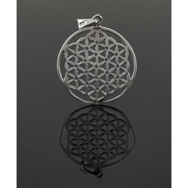 Sterling Silver Flower Of Life Pendant / Charm New Mens Pendants