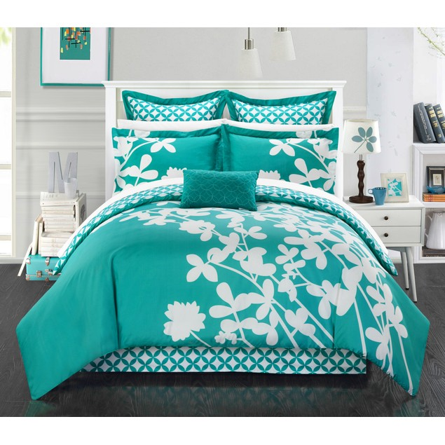 Chic Home 7 Pc. Niris Reversible Large Scale Floral Design Comforter Set