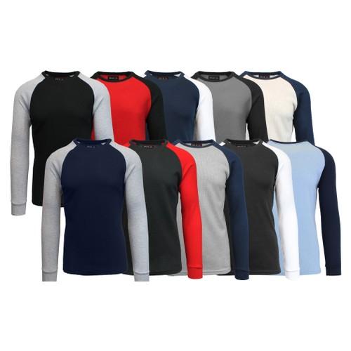 3-Pack Men's Raglan Thermal Shirt (S-3XL)