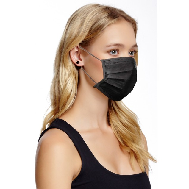 3 Ply Non-Medical Mask- Black or Pink