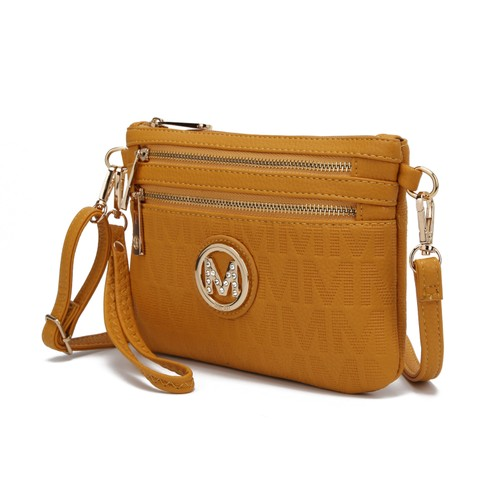 MKF Collection Roonie Milan M Signature Cross-body Wristlet by Mia K.