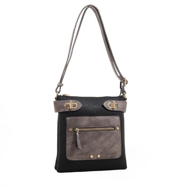 MKF Collection Laura Color Block Cross-Body Bag