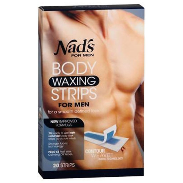 3-Pack Nad's For Men Body Waxing Strips, 20 Count