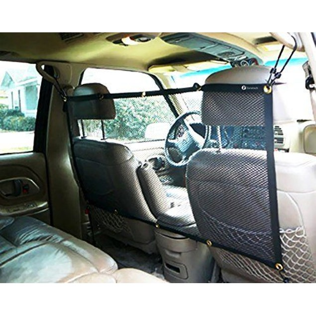 Zone Tech Vehicle Travel Pet Dog Car Back Seat Net Mesh Barrier 47 x 24""