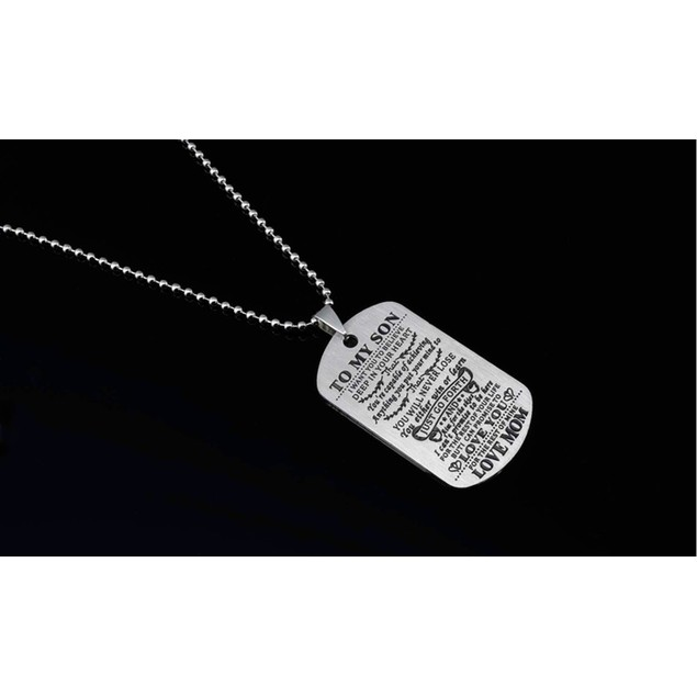Motivational Tag Necklace from Mom/Dad to Son/Daughter