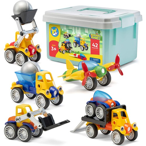 Play Brainy Magnetic Toy Cars Set