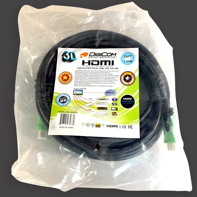 Digicom 12' Gold-Plated 1.4V Certified HDMI Cables