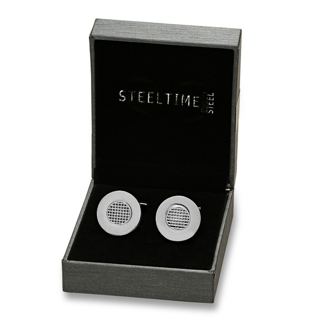 Box Set Stainless Steel Accented Cufflinks