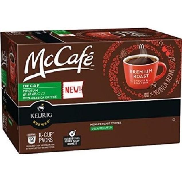 McCafe Premium Roast Decaf Coffee Keurig K Cup