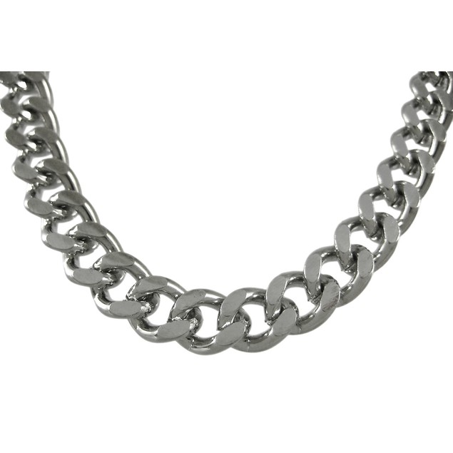 Chrome Plated 18 Inch Cuban Link Necklace Chain Mens Chain Necklaces