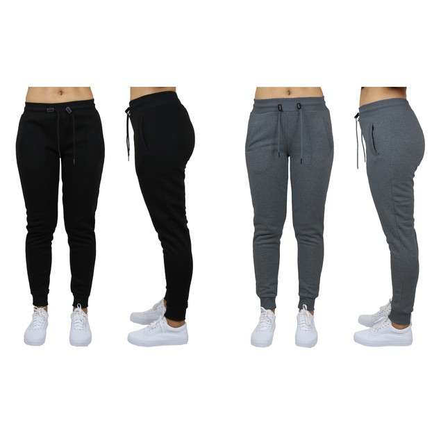 2-Pack Womens Classic Fleece Jogger Sweatpants (Sizes, S-3XL)